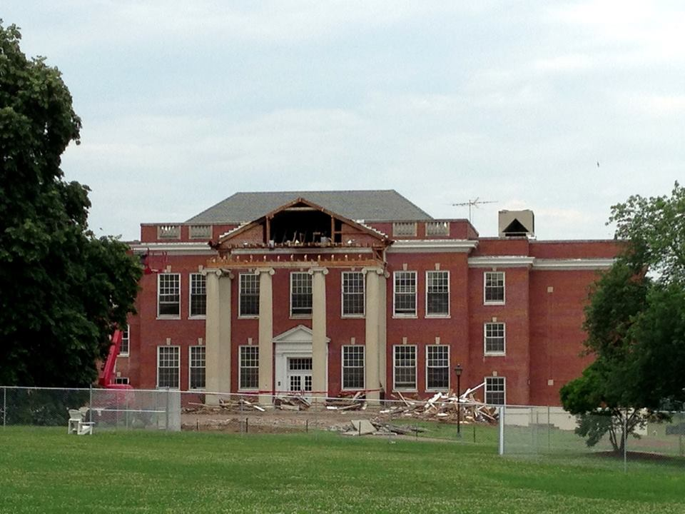 Chandler Hall at the end of the 2012-2013 school year. (Photo courtesy of Dr. Jeffery McClurken)